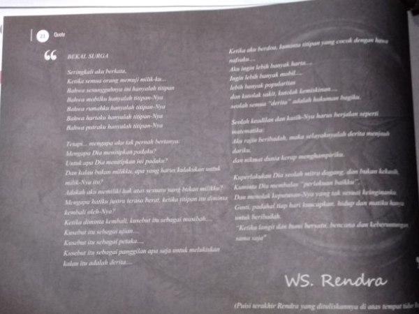 Belajar dari WS Rendra